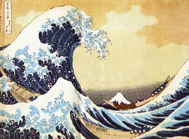 The Great Wave, by Hokusai