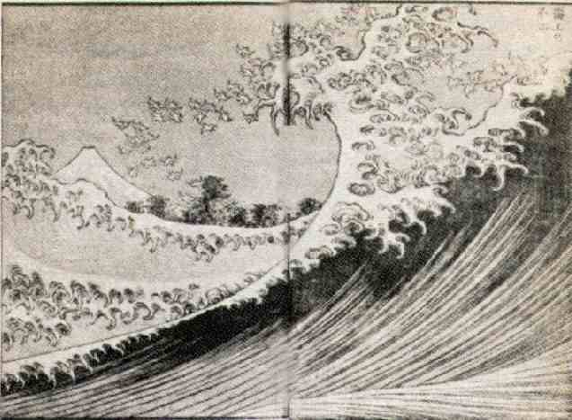 Fuji Seen From the Sea, by Hokusai