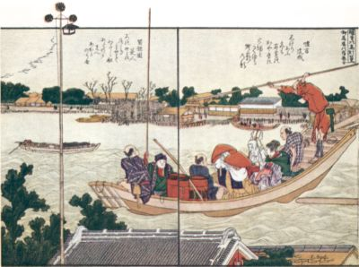 Hanging Lantern of Kaya Temple, by Hokusai