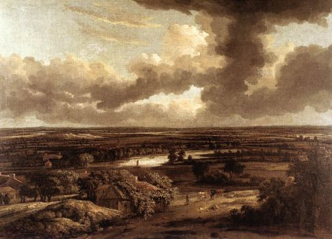 dutch landscape by Philips Koninck