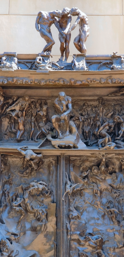 Rodin's Gates of Hell, detail