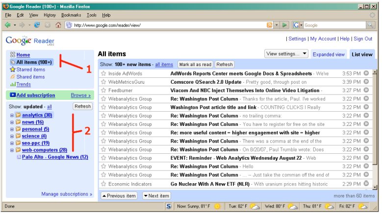FAQ: How to use Google Reader